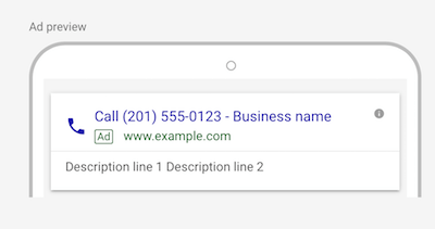 Google Call Only Ads