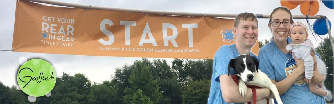 Geoffresh Walks In 2018 Tinley Park 5K Run Walk For Colon Cancer July 2018