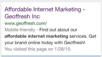 Geoffresh SEO Mobile Friendly Website Design